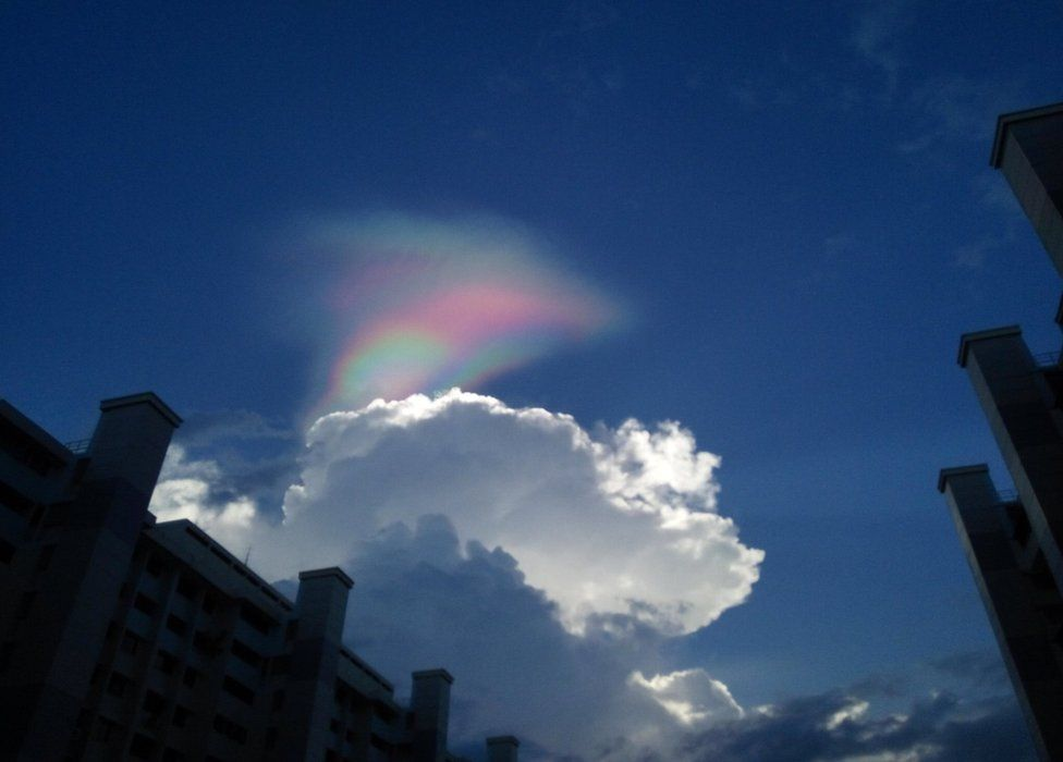 Picture of fire rainbow in Singapore on 20 February 2017