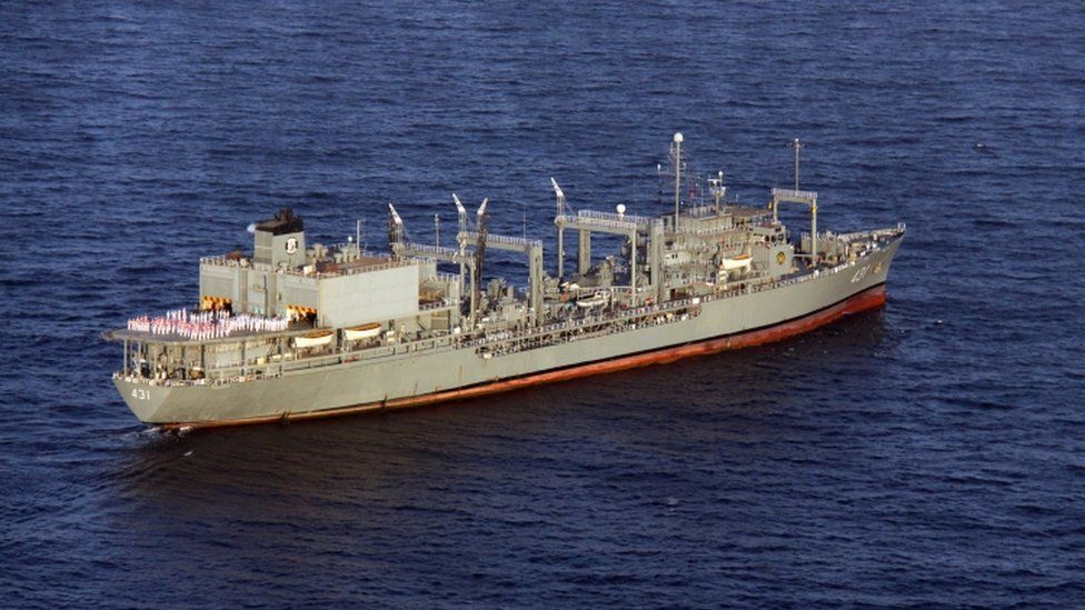 Iranian navy support ship Kharg