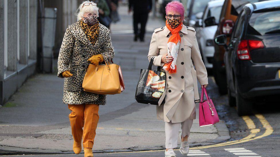 two women walking in Broughty Ferry