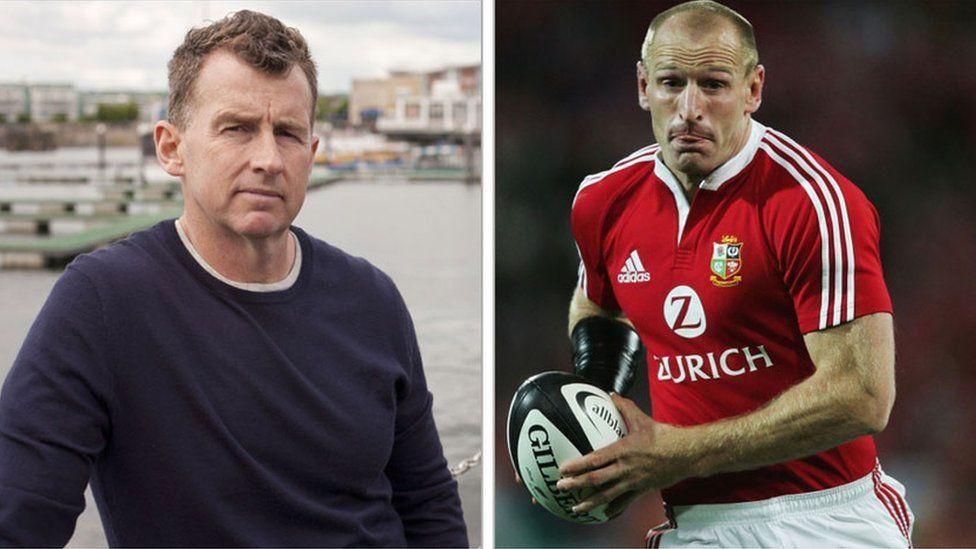 Nigel Owens a Gareth Thomas