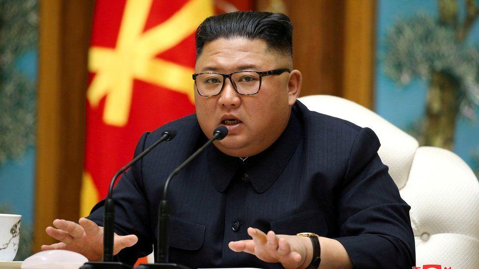 Kim Jong-un at Politburo meeting on 11 April