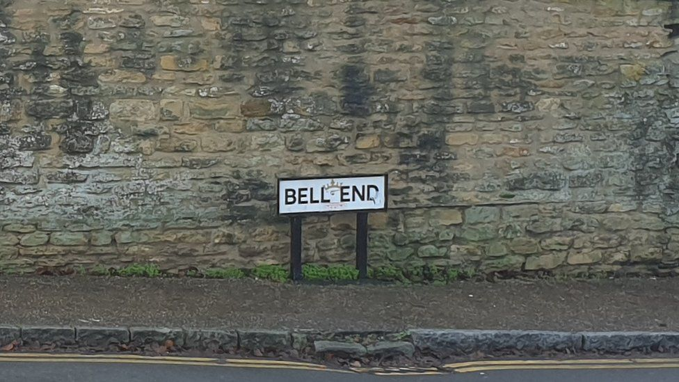Bell End sign