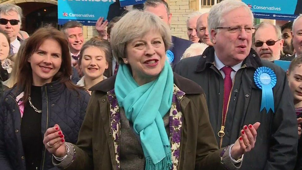 Theresa May addresses press in Copeland on 24 February 2014