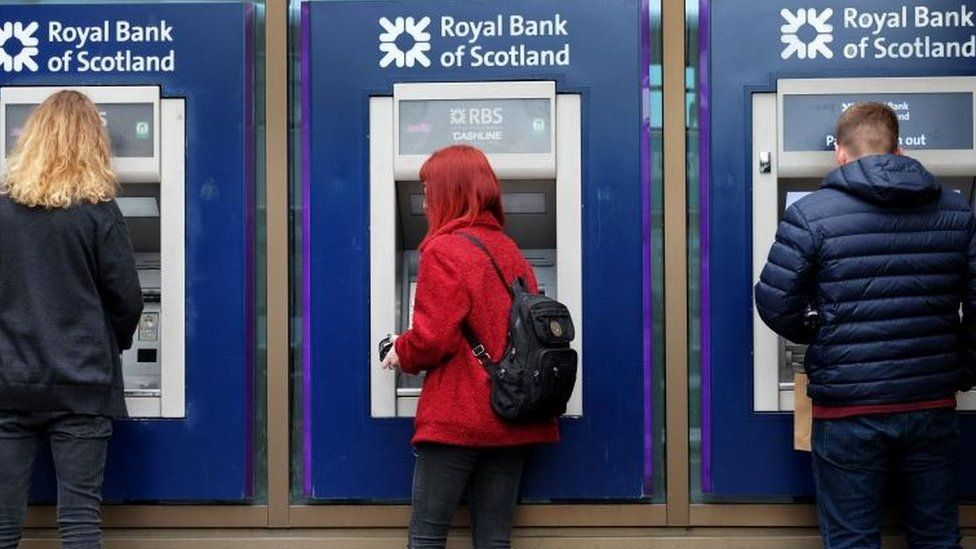 People using RBS ATMs