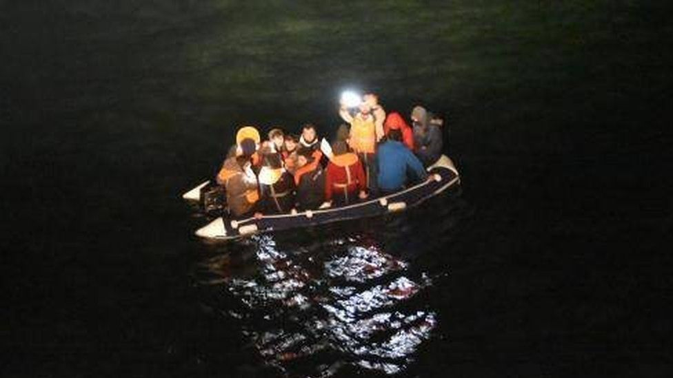 Migrants in English Channel