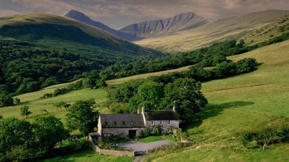 The cottage on Pen y Fan