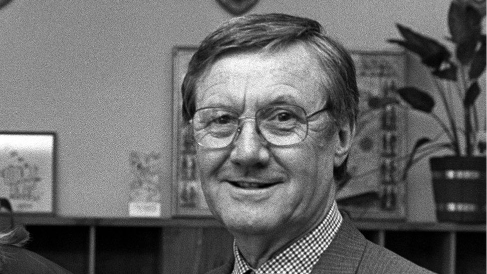BBC Northern Ireland controller Rev Dr Colin M Morris in 1989
