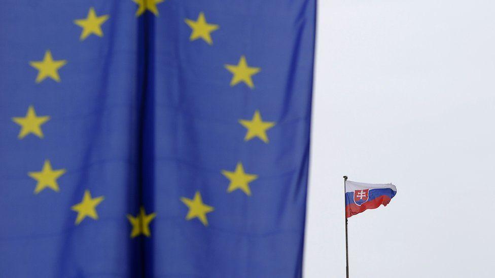 EU and Slovakia flag