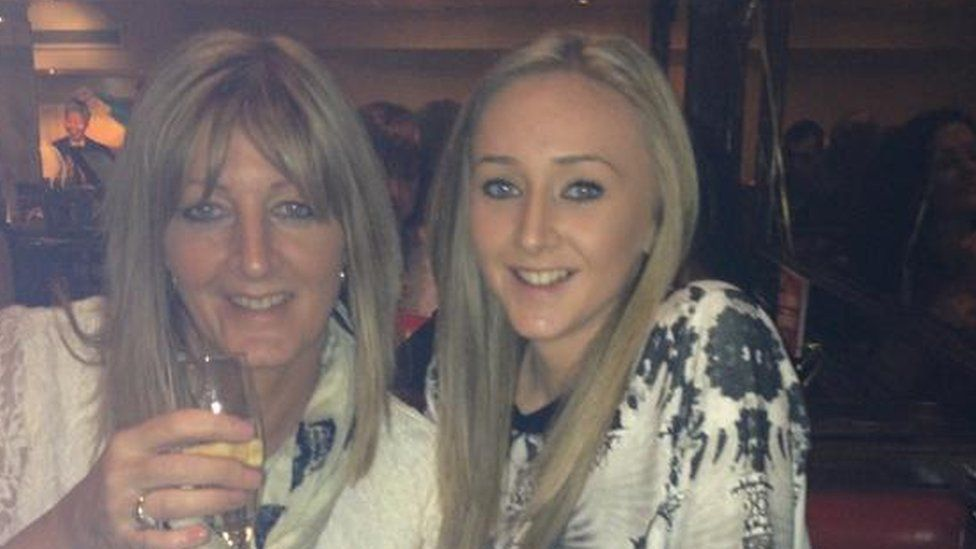 Hannah Powell and her mum