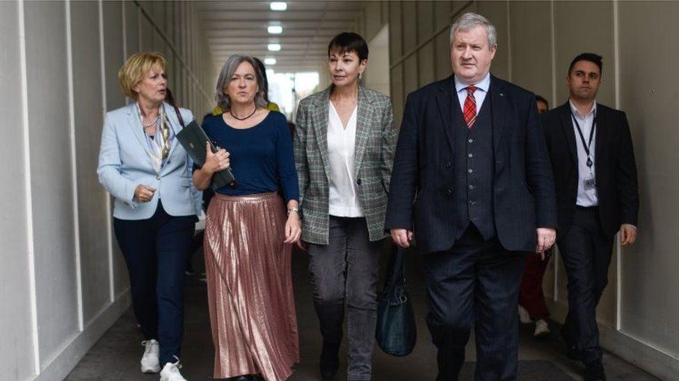 Anna Soubry, Liz Saville Roberts, Caroline Lucas and Ian Blackford