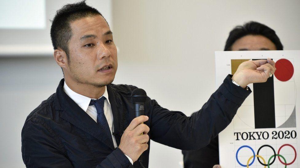 Japanese designer Kenjiro Sano speaks during a press conference regarding the Tokyo 2020 Olympics logo plagiarism dispute in Tokyo, Japan, 05 August 2015.
