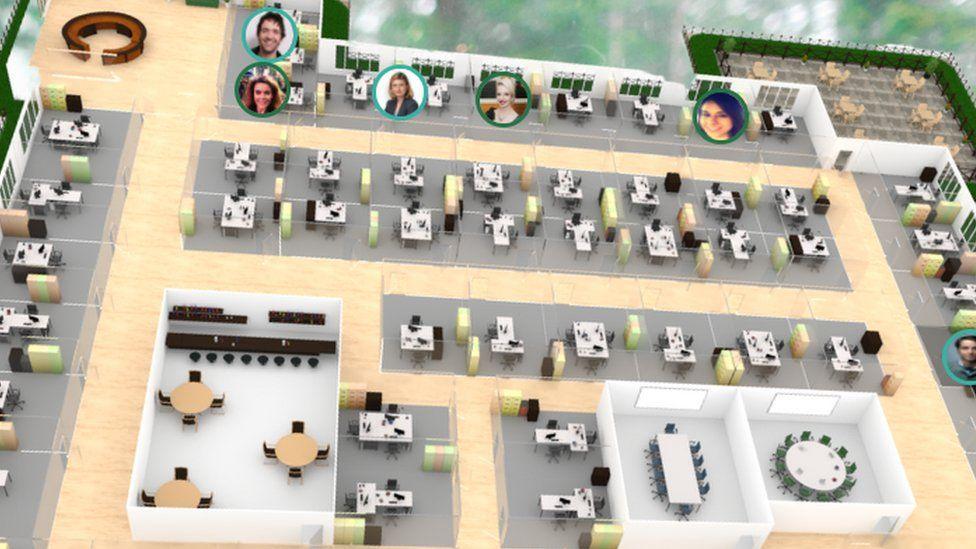 A Yonderdesk virtual office
