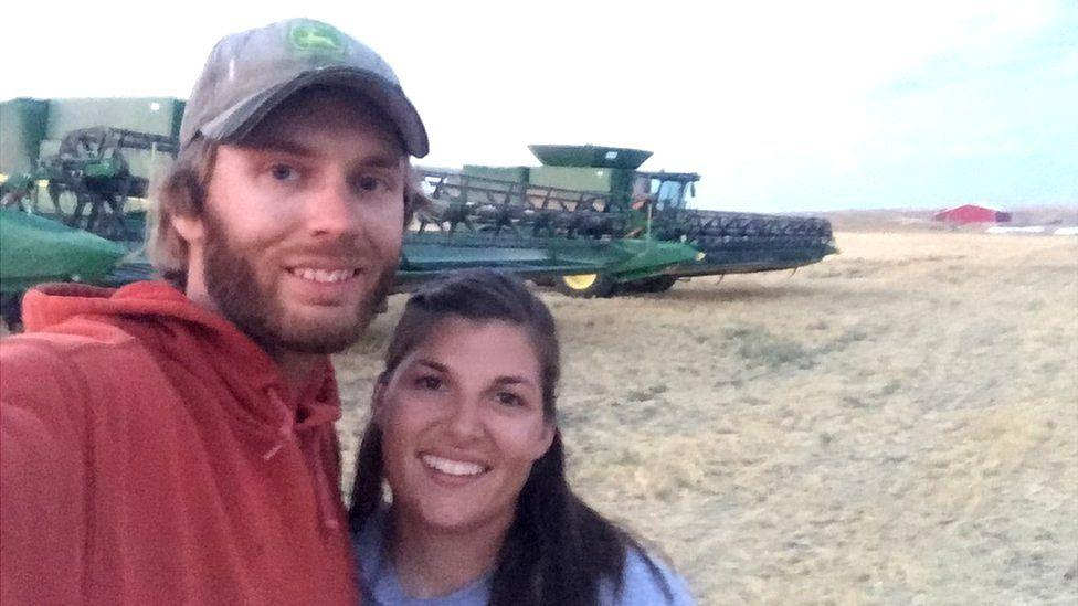 Derek Sande and his wife farm 10,000 acres in Montana