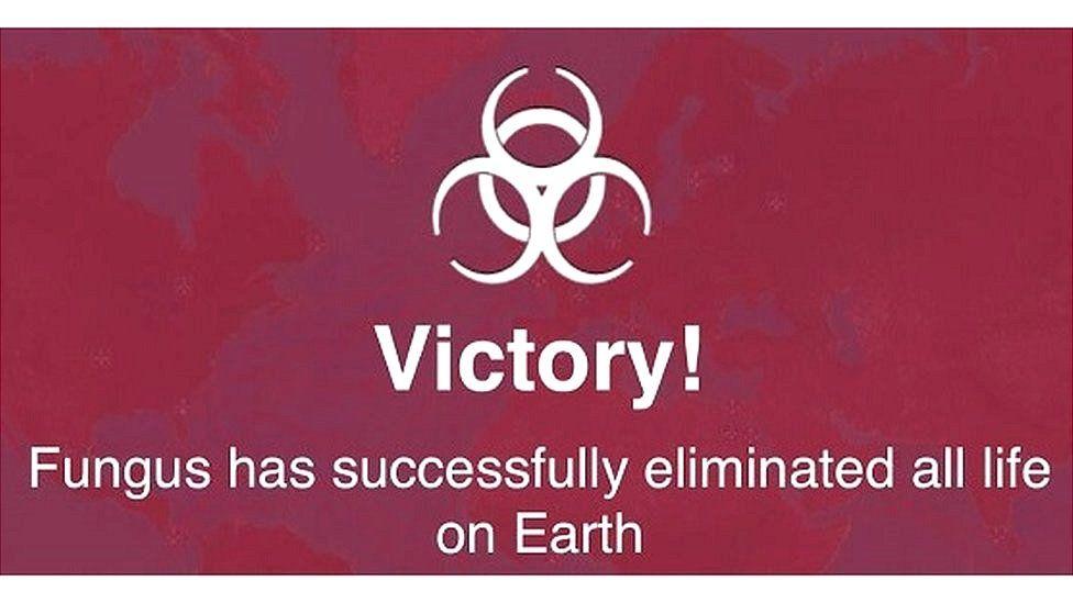 Plague Inc's winning screen