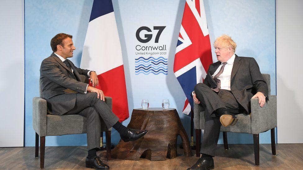 President Emmanuel Macron and Boris Johnson