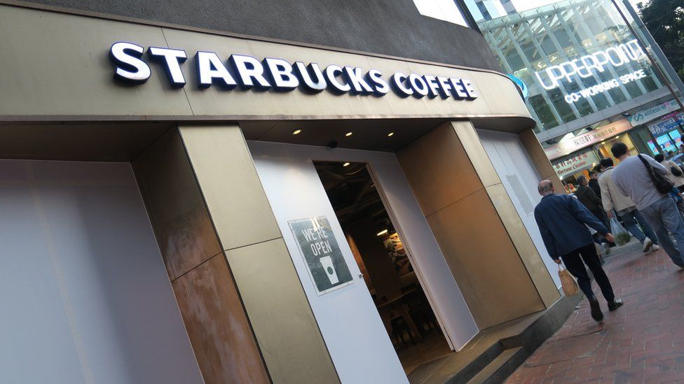 香港天后一家星巴克咖啡(3/1/2020)