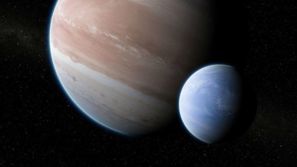Neptune-sized exomoon