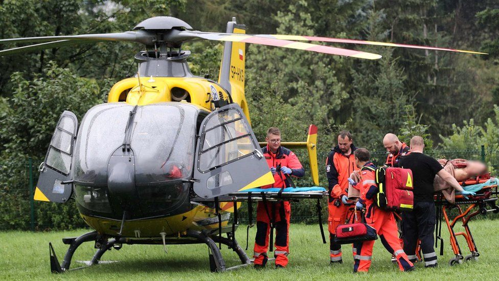 Injured transported by helicopter to Zakopane on 22 August 2019