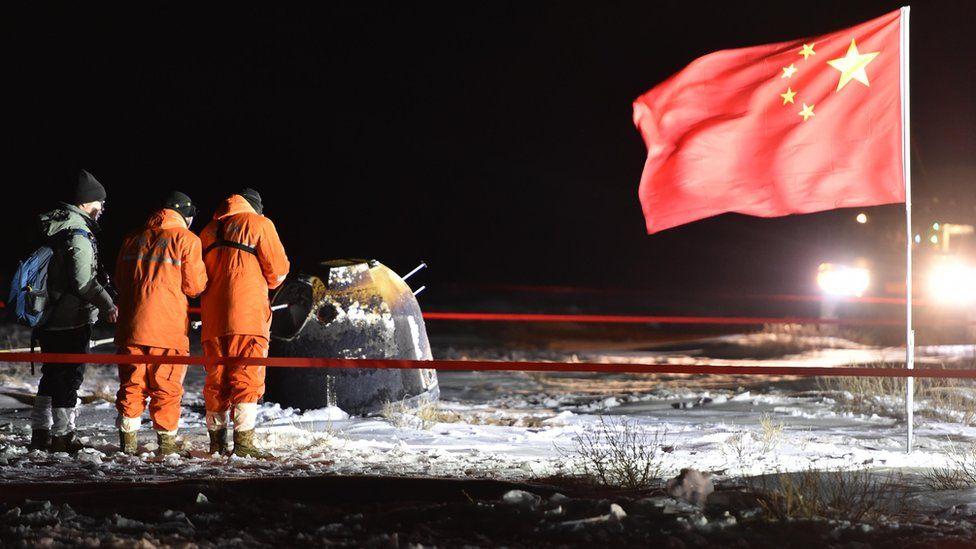 China's Chang'e-5 mission returns Moon samples
