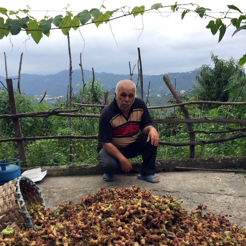Kazim Yaman, hazelnut farmer