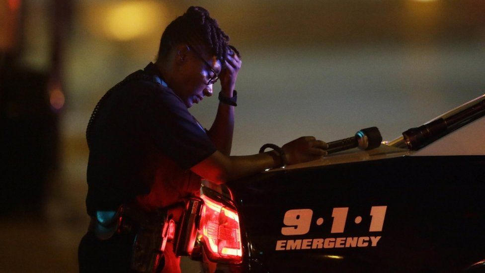 A Dallas police officer, 7 July