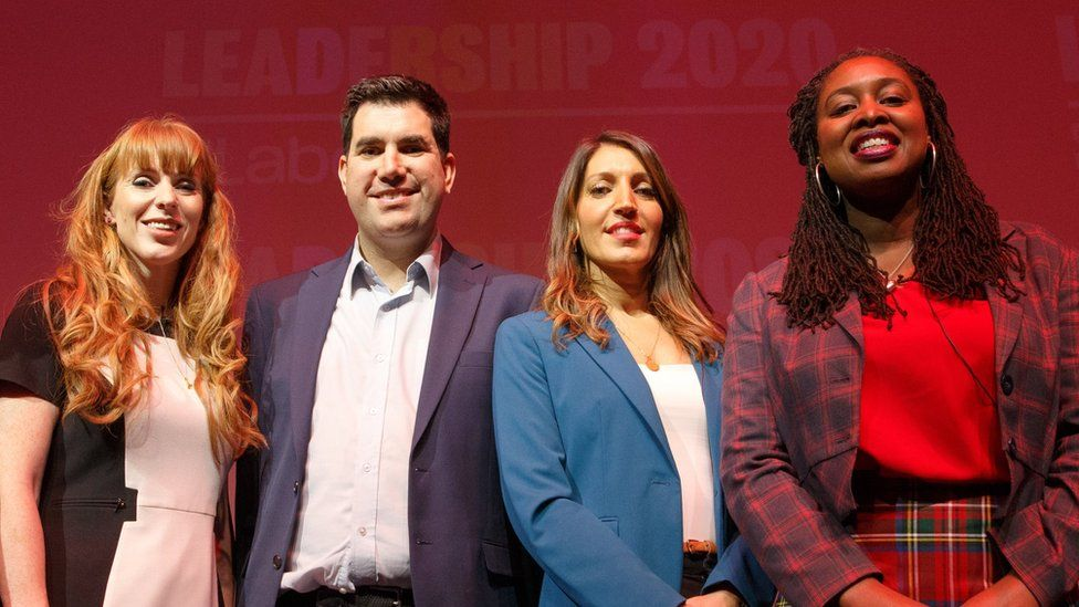 (From left to right) Angela Rayner, Richard Burgon, Rosena Allin-Khan and Dawn Butler are also competing for the deputy leadership