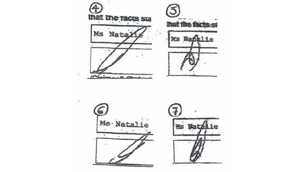 Signatures illustration three