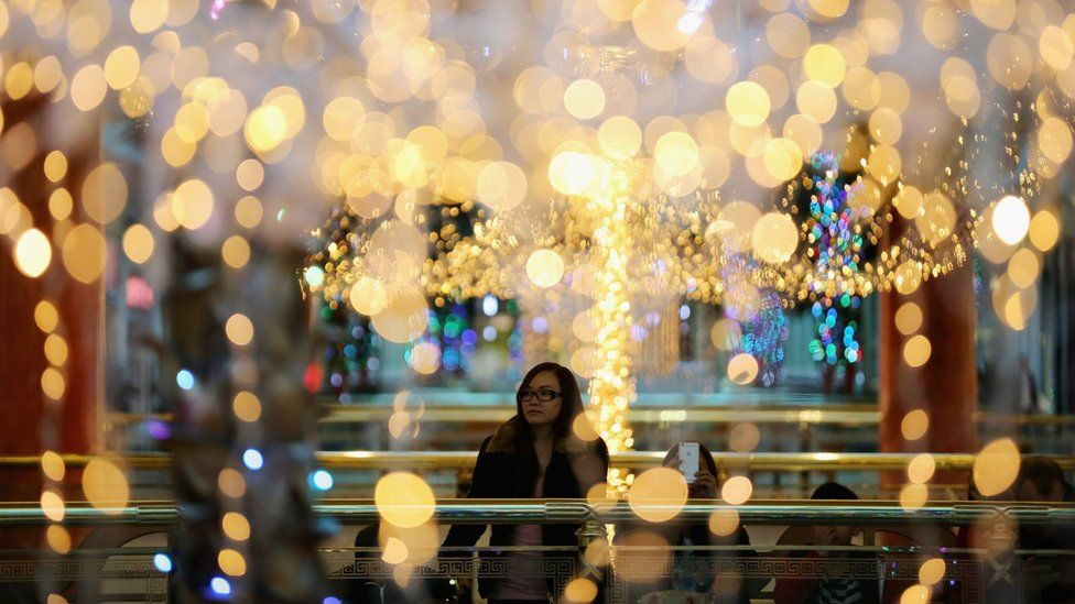 Shoppers at The Trafford Centre on 27 November 2015 in Manchester,