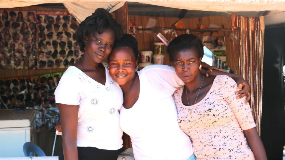 Penina (right) in her salon
