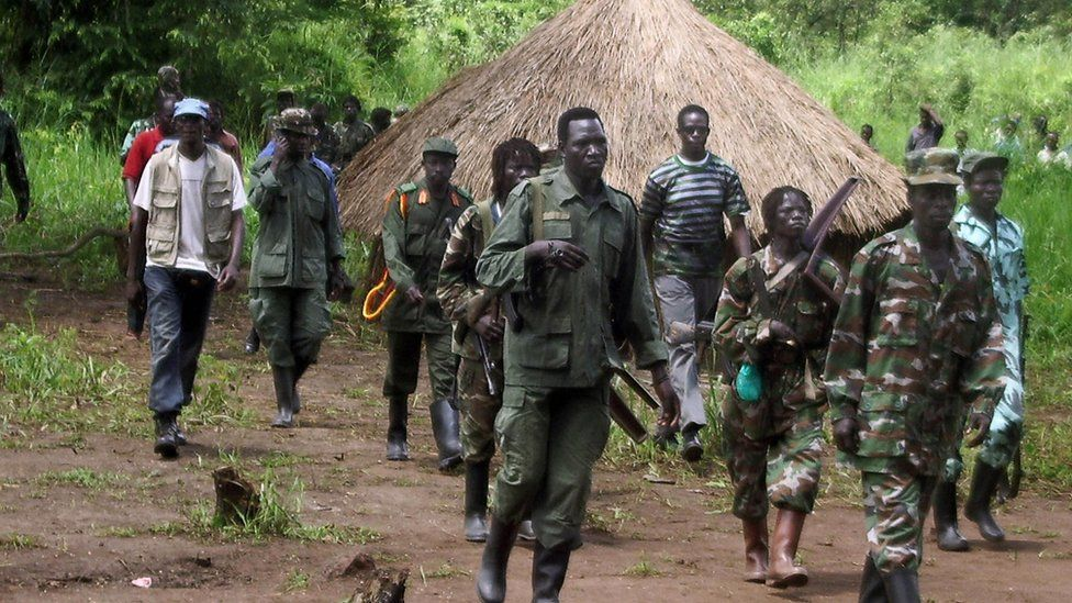 LRA fighters in Sudan (now South Sudan) near border with DR Congo - 2008 picture