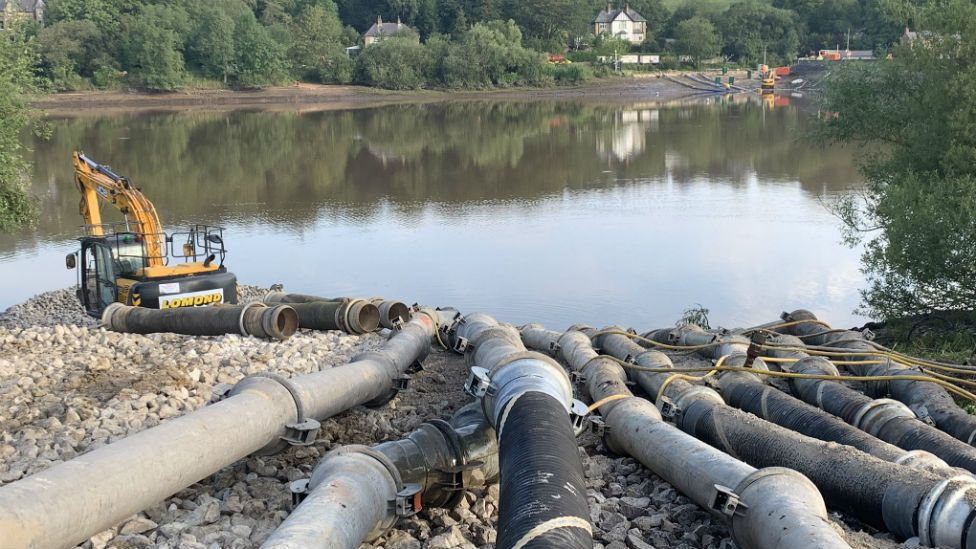Pumping at reservoir