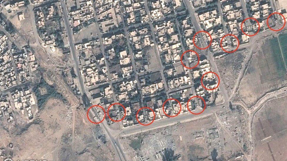 Satellite images of Mosul