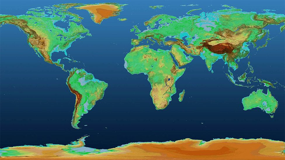 Map Of The World 3d.German Satellites Sense Earth S Lumps And Bumps Bbc News