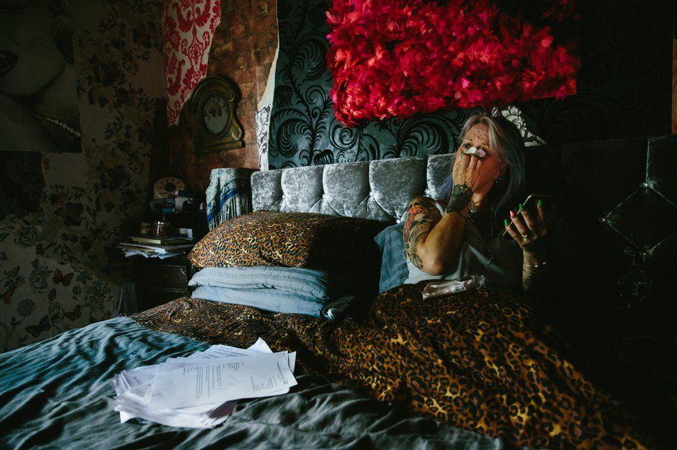Melanie Semple in bed