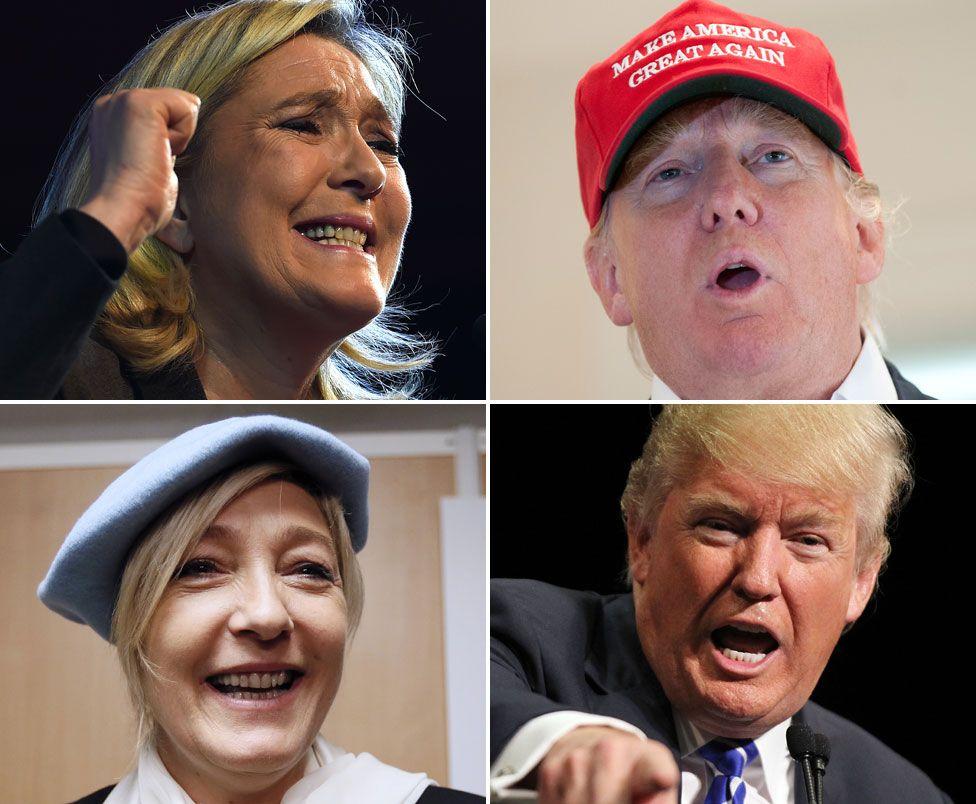 Marine Le Pen and Donald Trump