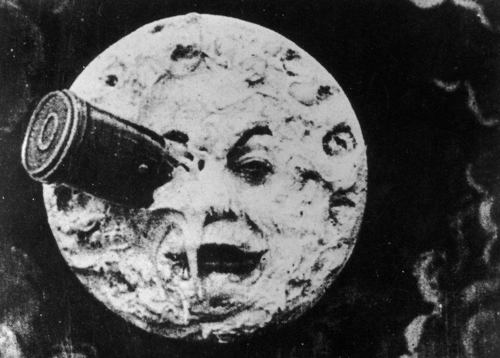 In Georges Méliès's 1902 masterpiece, A Trip to the Moon, a rocket crashes into the Man in the Moon
