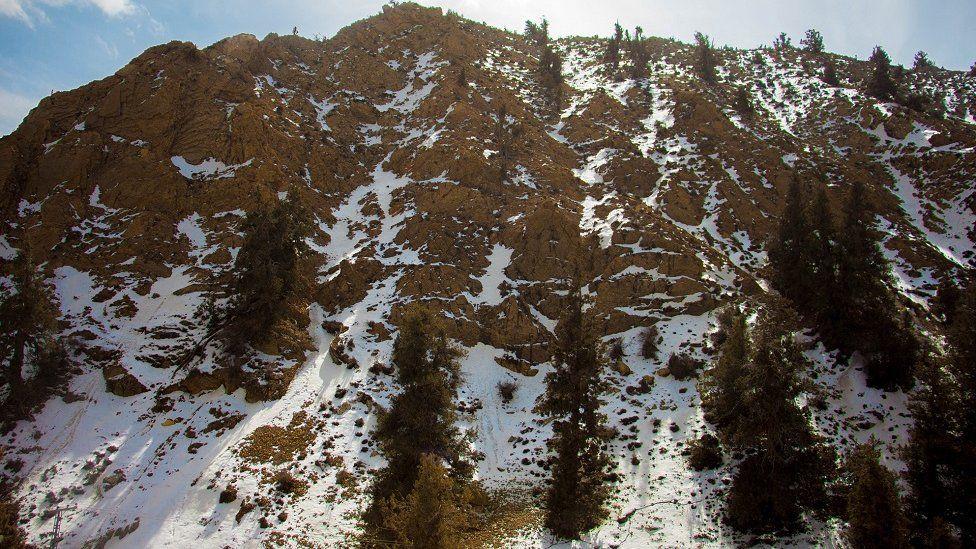 Ziarat hillside