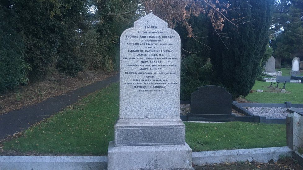 The family plot of Henry Cuppage