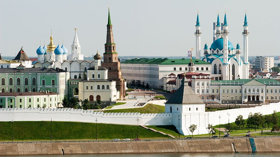 Kazan is the capital of the Republic of Tatarstan, which has the largest Muslim population in Russia