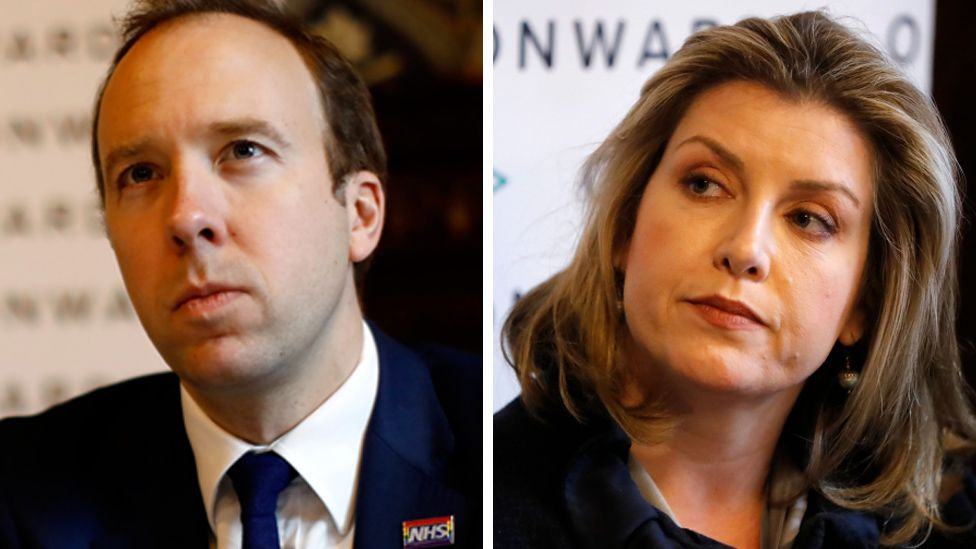 Composite of Matt Hancock and Penny Mordaunt