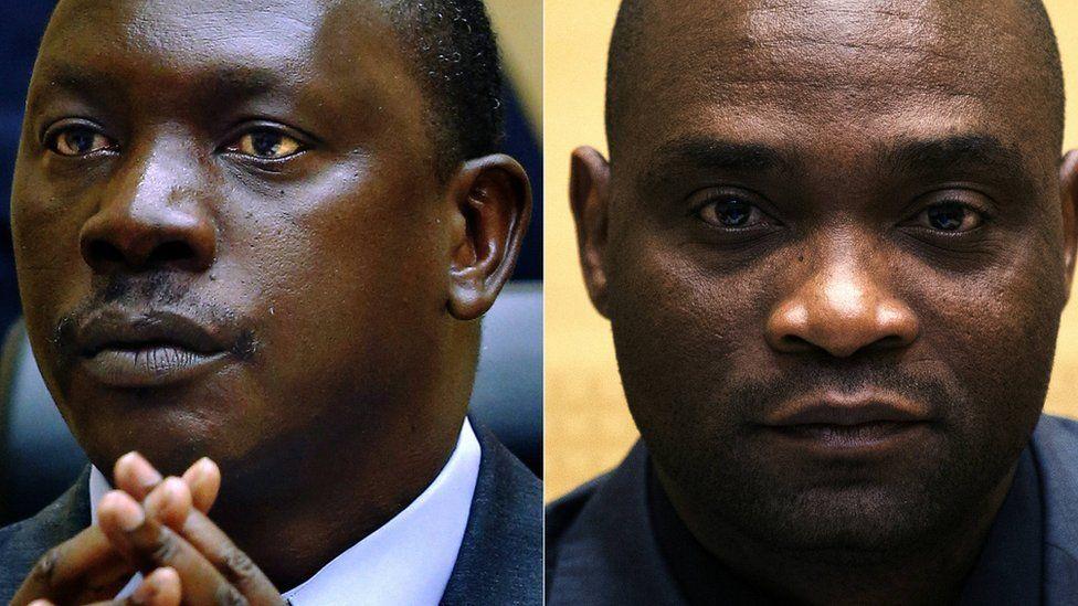 Congolese warlord Thomas Lubanga (L) and Germain Katanga, a Congolese National