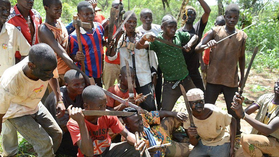 Young anti-Balaka fighters