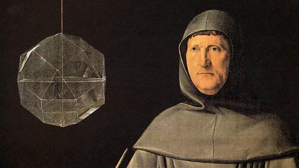 Luca Pacioli, pictured in a 16th century painting