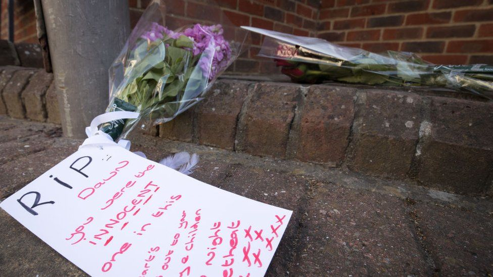 Tributes left to Dawn Sturgess after her death