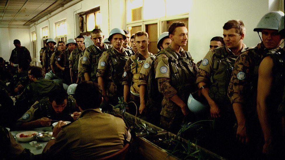 Українські миротворці в казармах Тіто