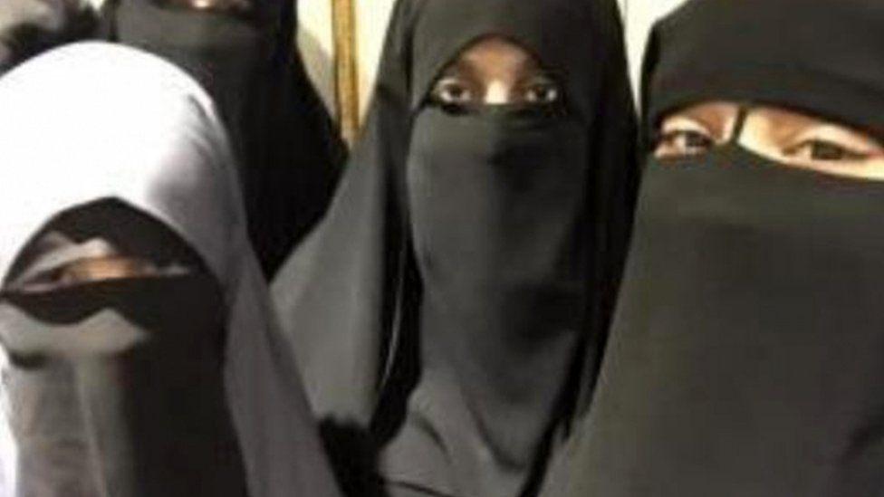 Safaa Boular and other veiled women