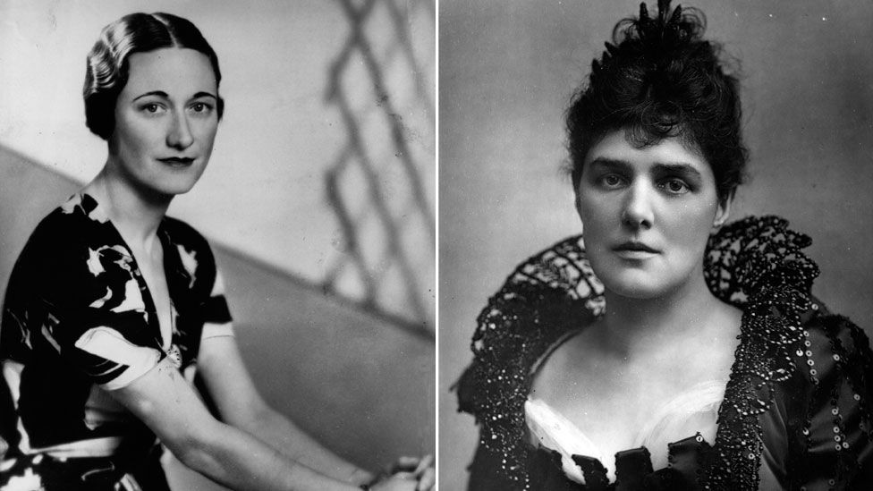 Wallis Simpson, later Duchess of Windsor, and Jennie Churchill, mother of Winston