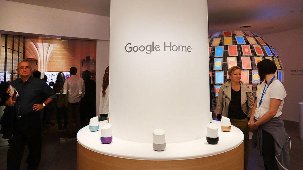 Google Home display in pop up shop