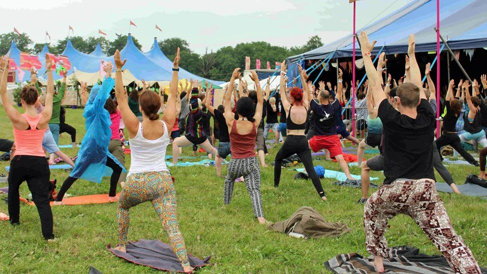 Yoga workshop at Womad