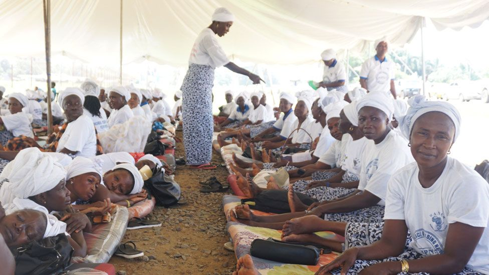 Women fasting for peace